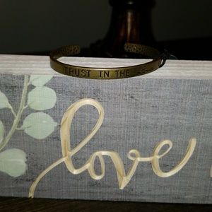 """New """"TRUST IN THE LORD"""" brass copper bracelet"""